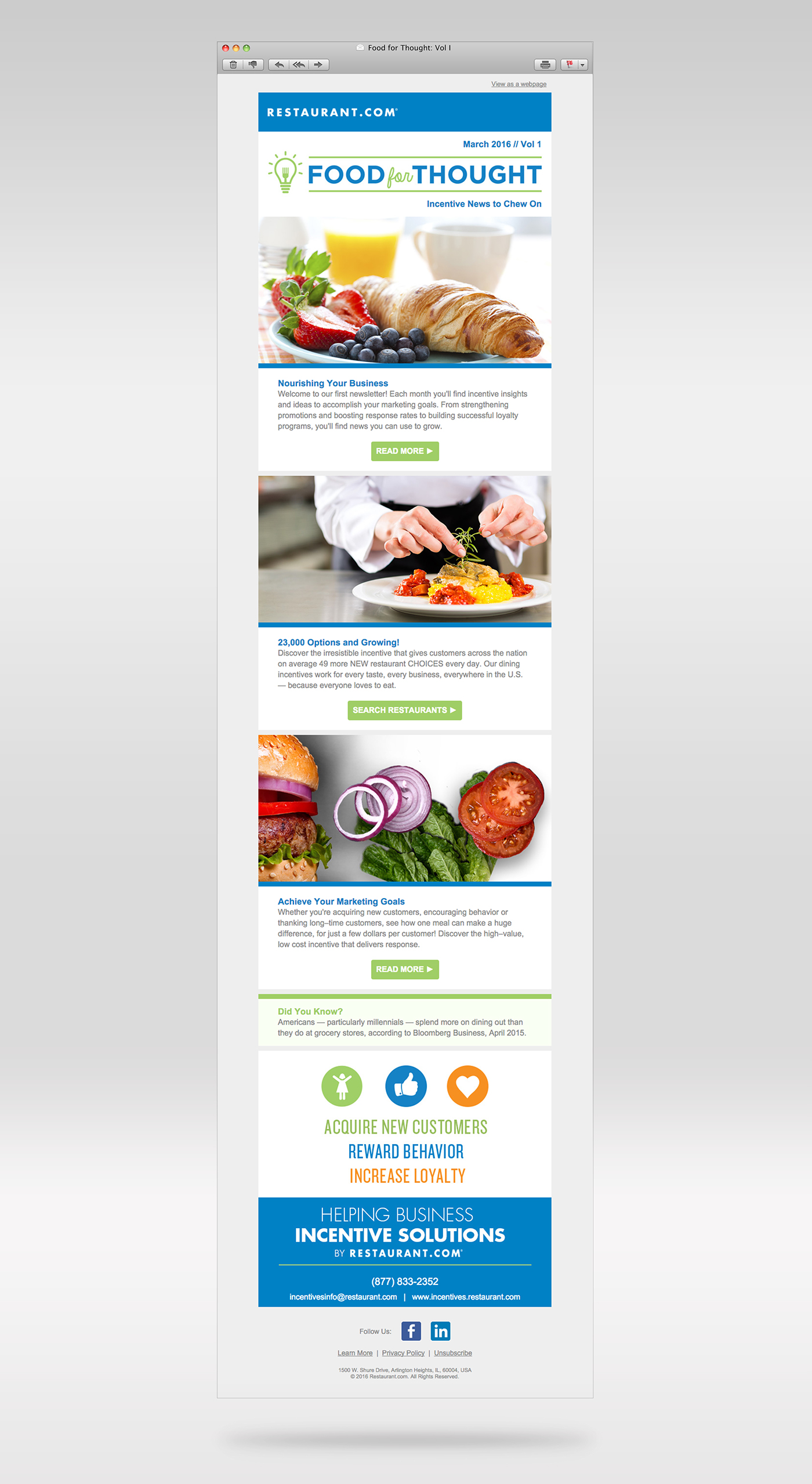 Food for thought b2b newsletter design on behance food for thought newsletter that would suit the overarching brands of restaurant and business incentives by restaurant and designing a forumfinder Image collections