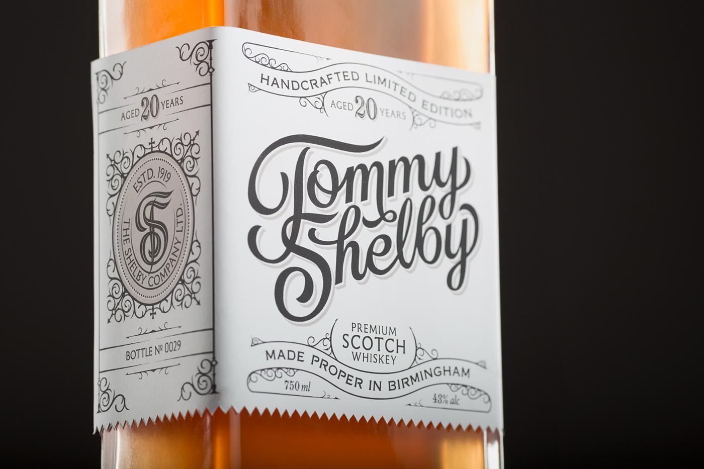 tommy shelby Peaky Blinders Whiskey package design  bottle design label design adaa_2015 adaa_school arizona_state_university adaa_country united_states adaa_packaging