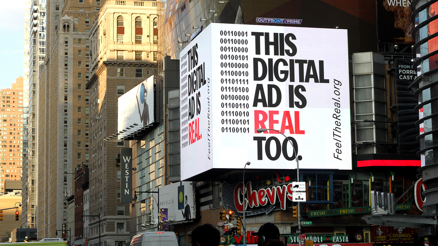 Feel The Real - ads design