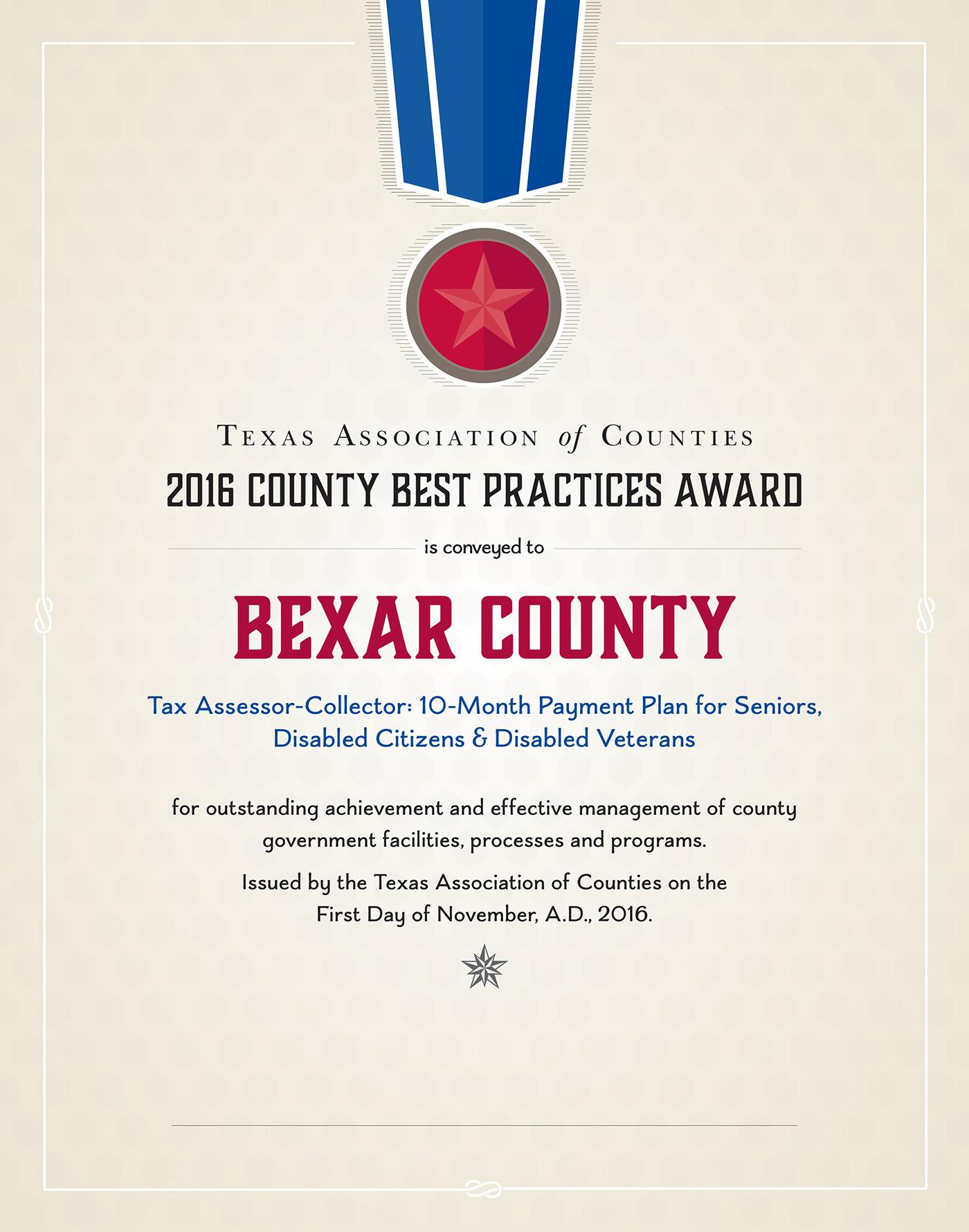 certificate county program practices awards award behance
