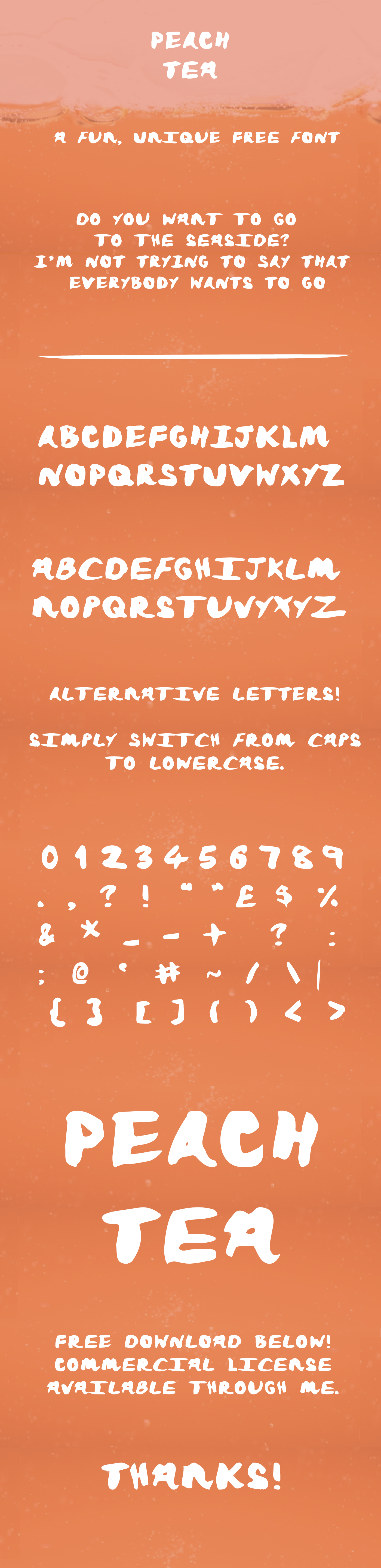font free Free font Typeface free typeface peach tea font Peach Tea amy cox new Fun logos logo peach tea Amy