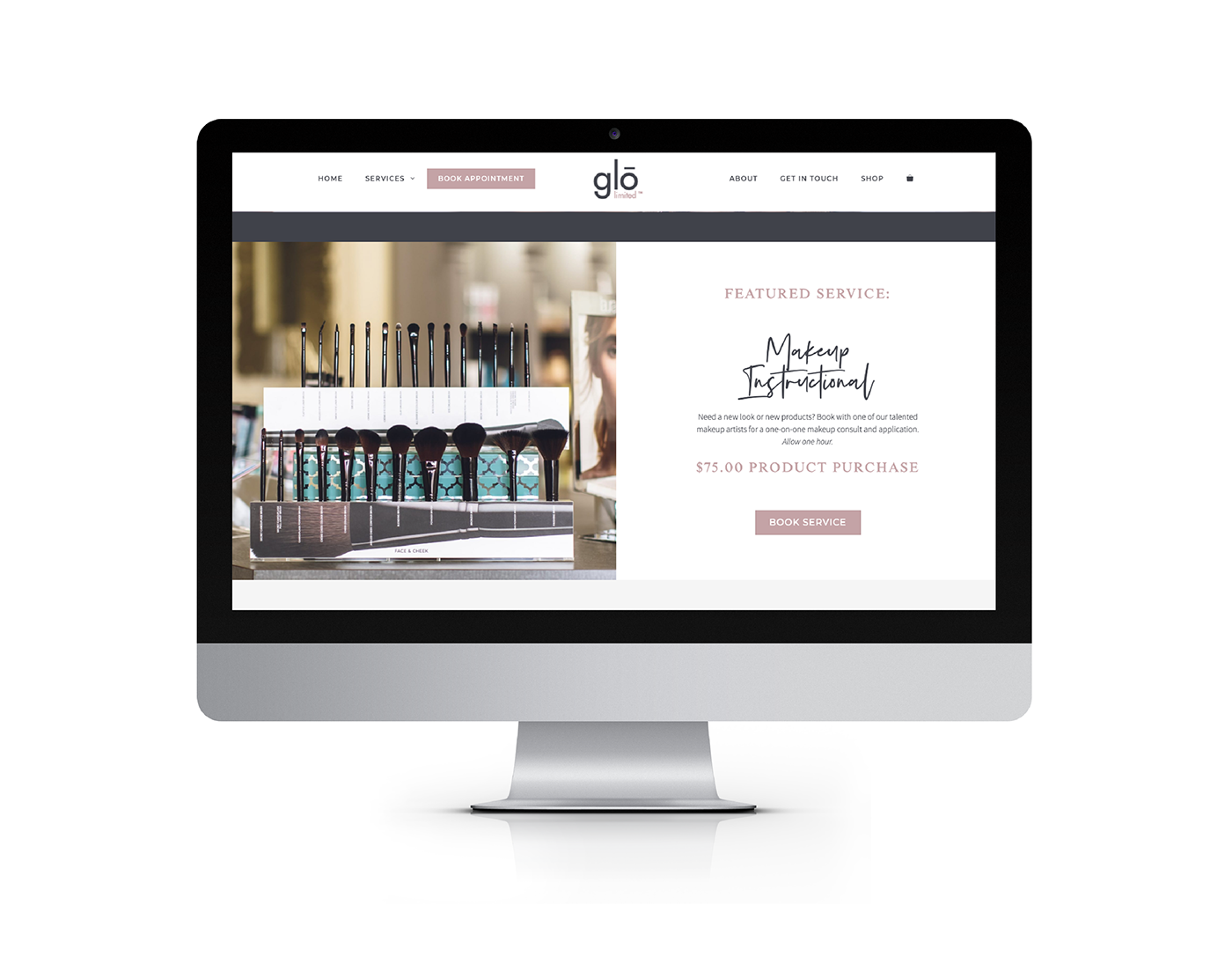 eCommerce Website for Sophisticated Salon + Spa