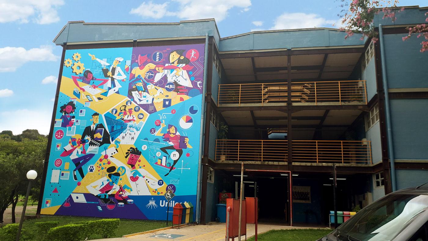 school Education University Brazil colors vector art medicine