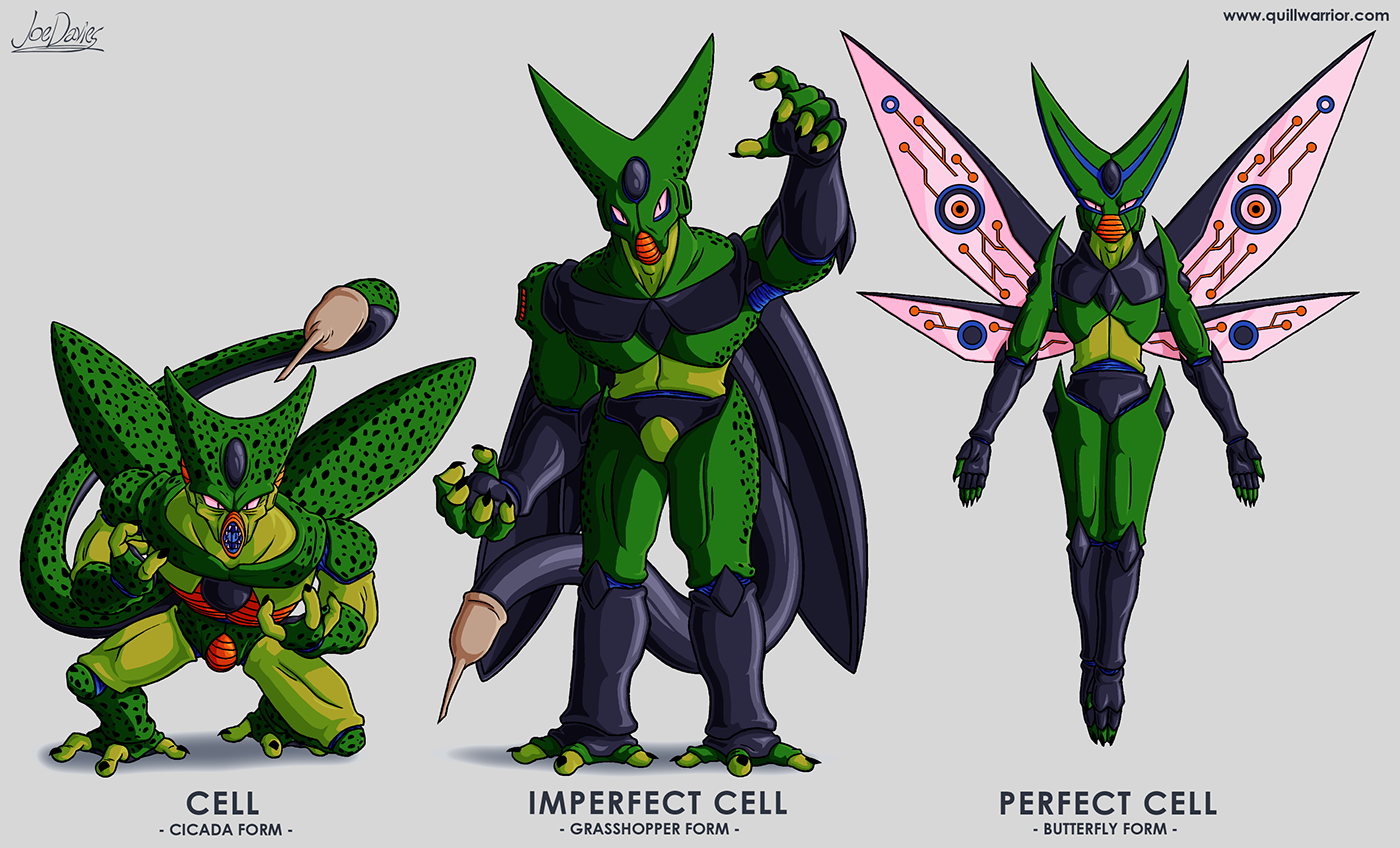 character redesign cell dragon ball z on behance