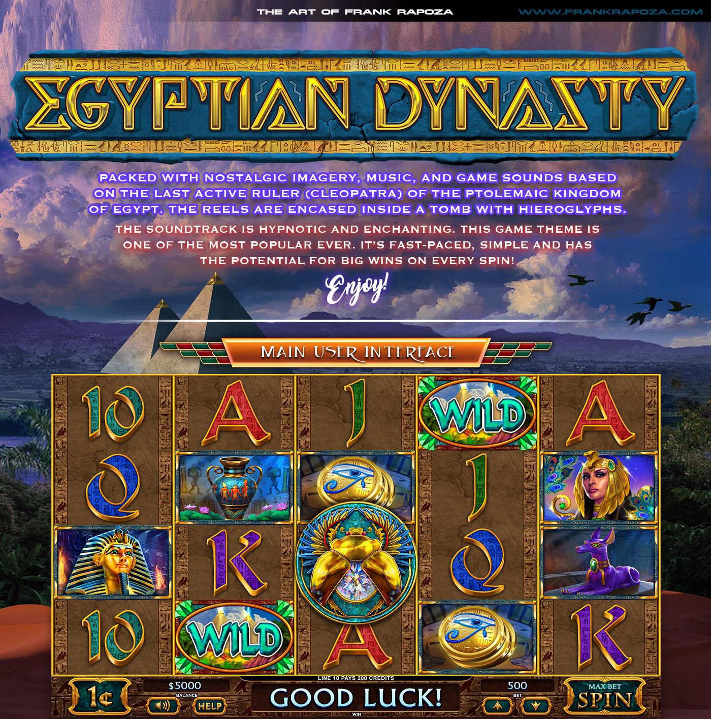 art casino Character cleopatra design egypt Gaming gold ILLUSTRATION  logo