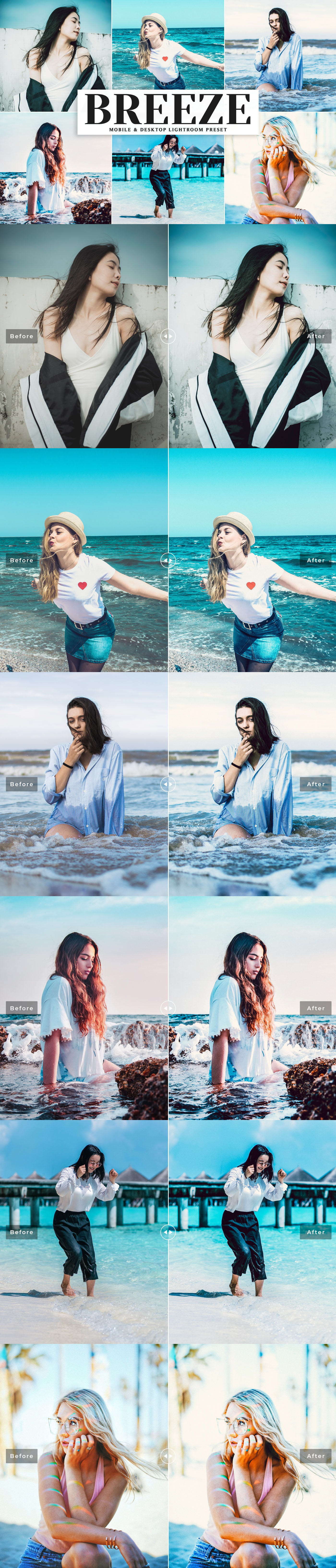 Free Breeze Lightroom Preset that will add bright, soft and clean aesthetic tone.