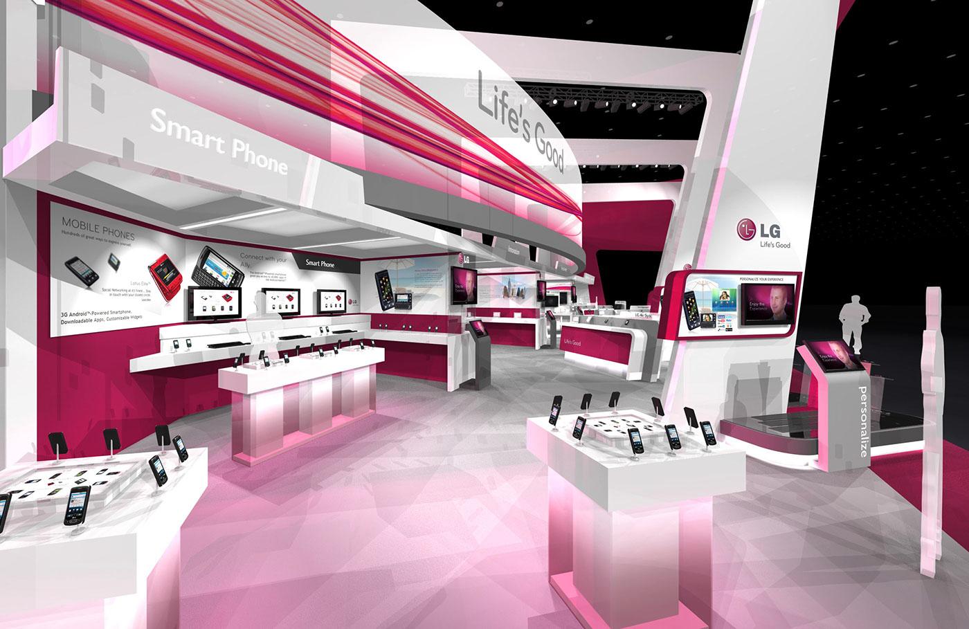 Exhibition Stand Design App : Lg ctia exhibit design concept on behance