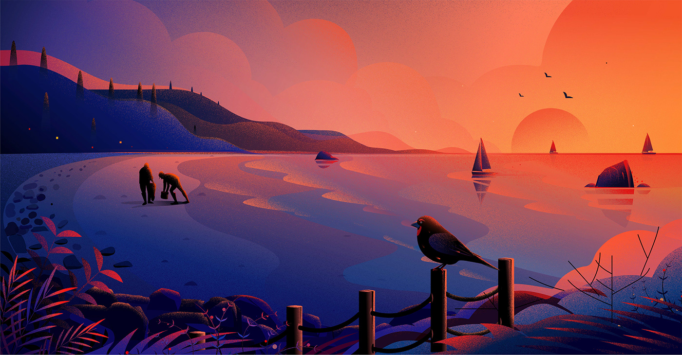 Image may contain: sky, bird and sunset