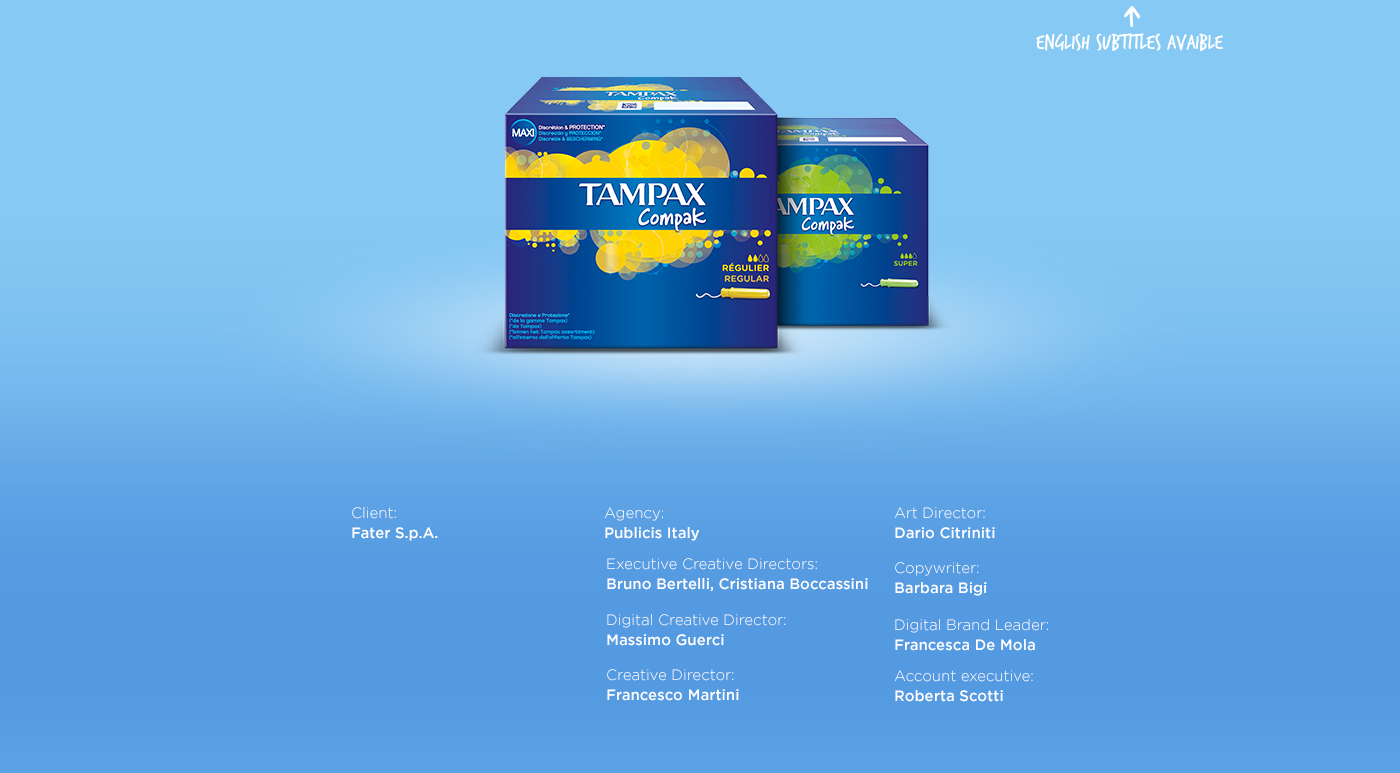 Tampax easy man woman test tampons tights eyeliner bra Proof ADV Web Viral