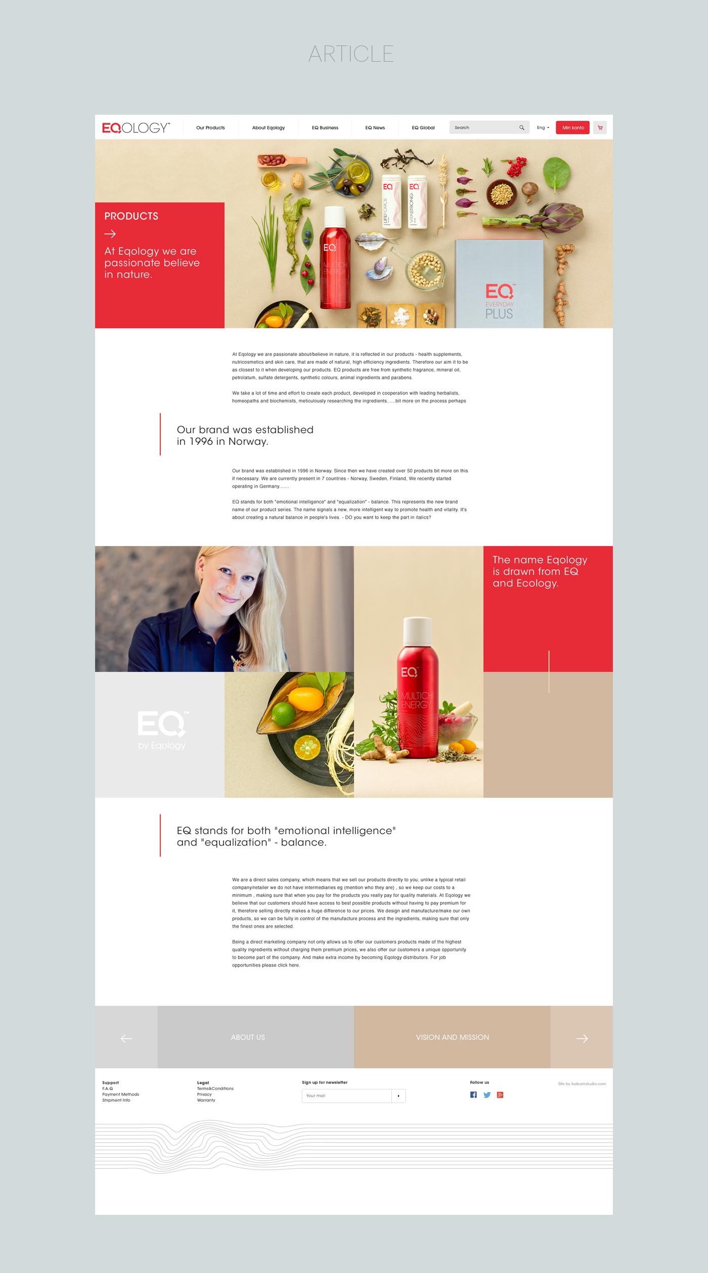 balsamstudio EQOLOGY Ecology EQ Nature organic supplements webshop