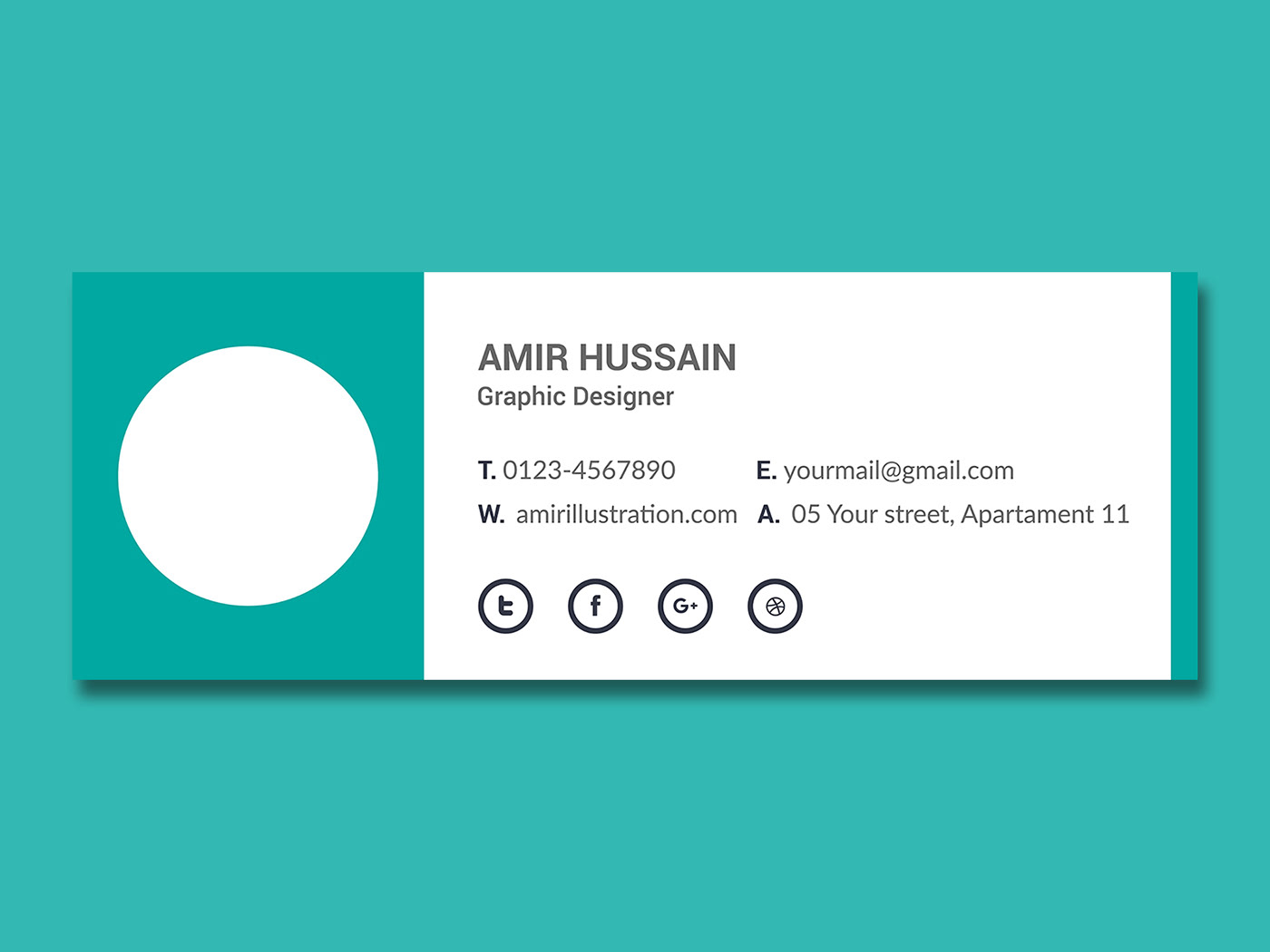 Free Download Email Signature Template on Behance