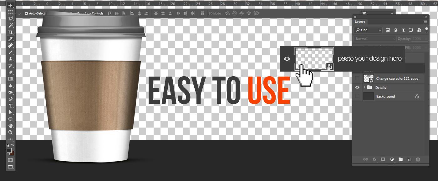Mockup paper cup drink mcdonald's Coffee Cilantro psd freebies free