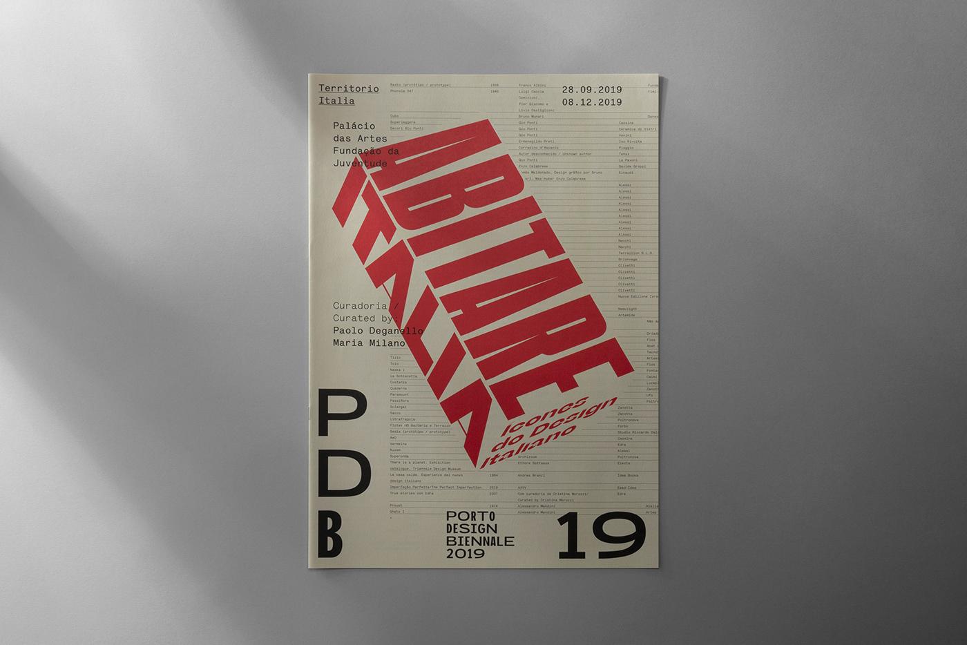 another collective Exhibition  abitare italia PDB Porto design biennale Biennale porto poster