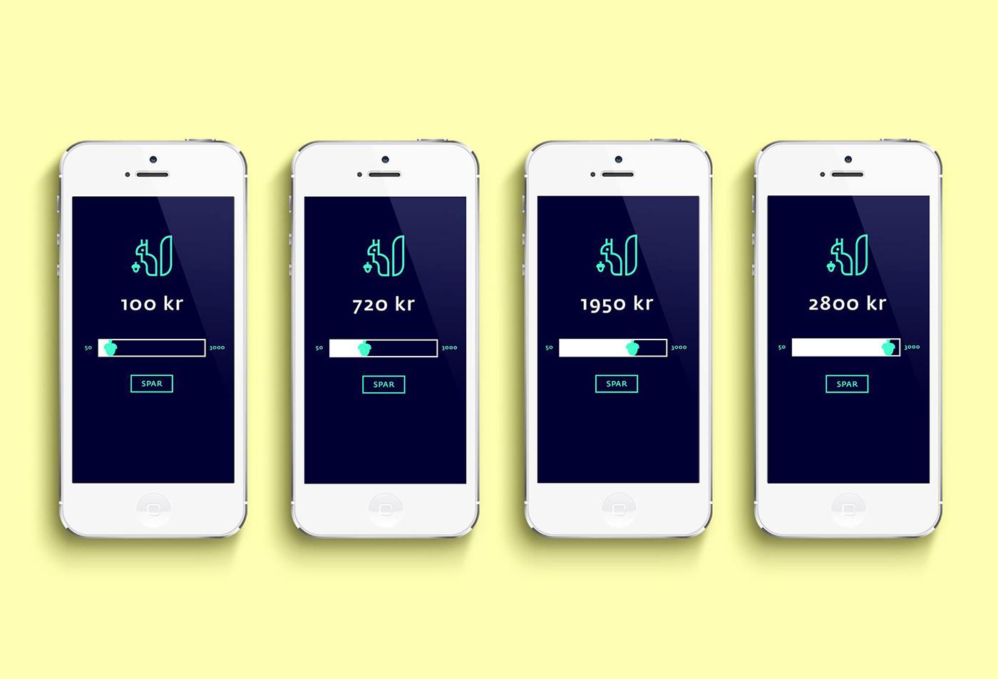 visual profile pictograms app banking finance squirrel logo brand