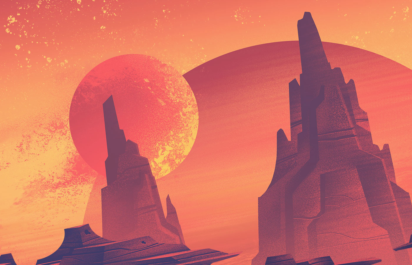 Illustration: Space Park: Cosmic Canyon by Brian Miller