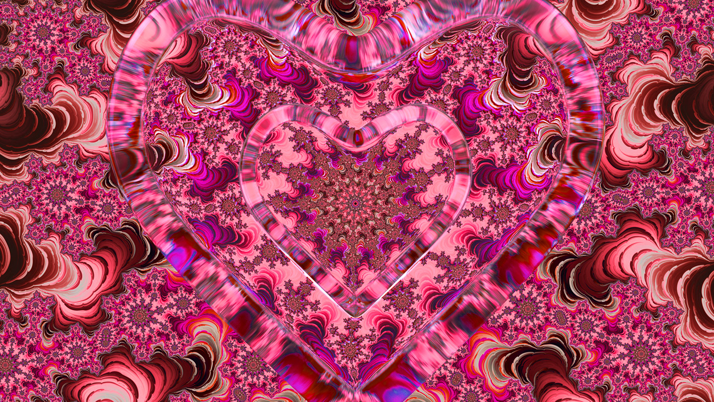 Image may contain: motif, pattern and magenta