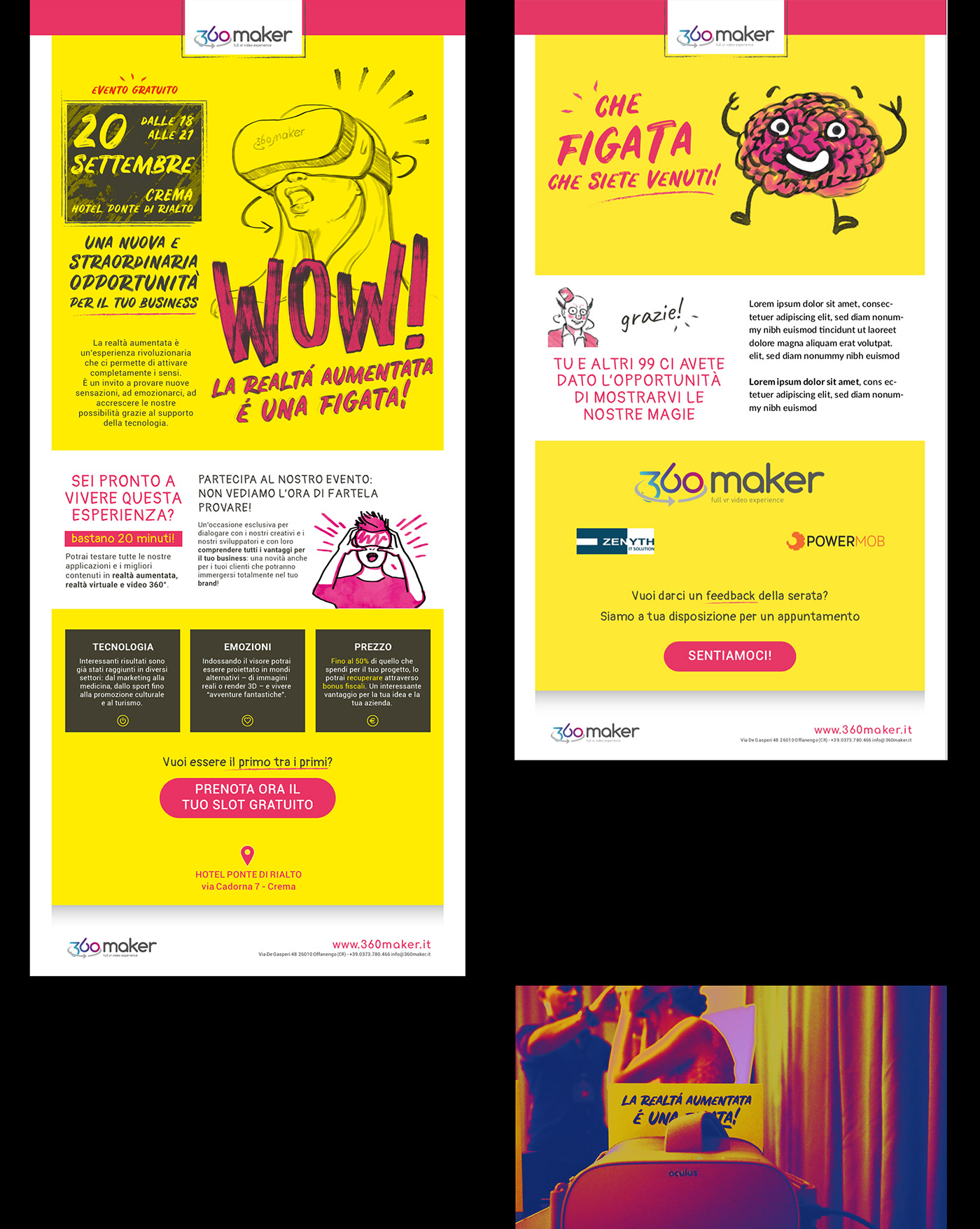 augmented reality business card Event ILLUSTRATION  kitch newsletter poster Startup yellow
