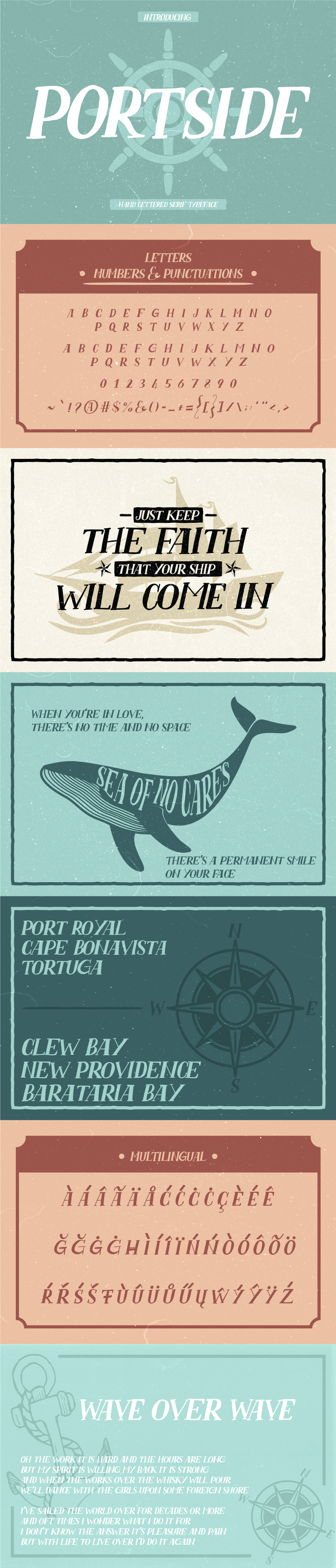 free Free font free fonts freebie hand drawn nautical rustic Sea Shanty serif vintage