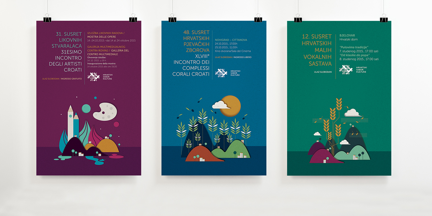 Croatia culture amateurism posters booklets Association Theatre series concert Manifestation group tradition