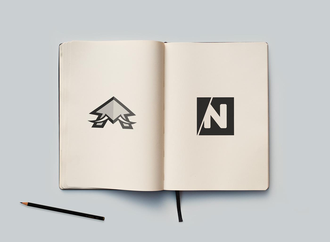 monogram alphabet Icon brandmark logo letters