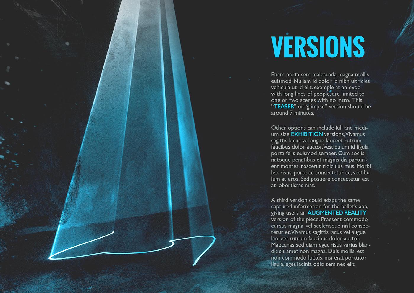 art ballet brochure pitch packet presentation vr