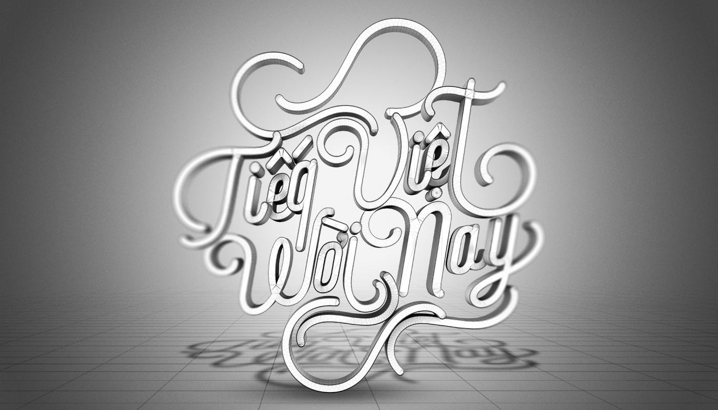 typography 3Dtype 3D Graphic