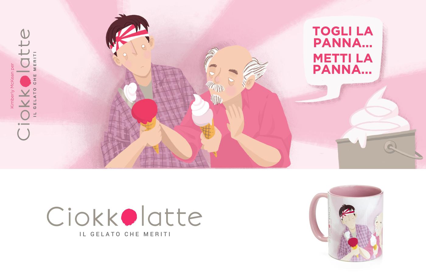 Mugs Ciokkolatte Cinema movie ice cream Gelato