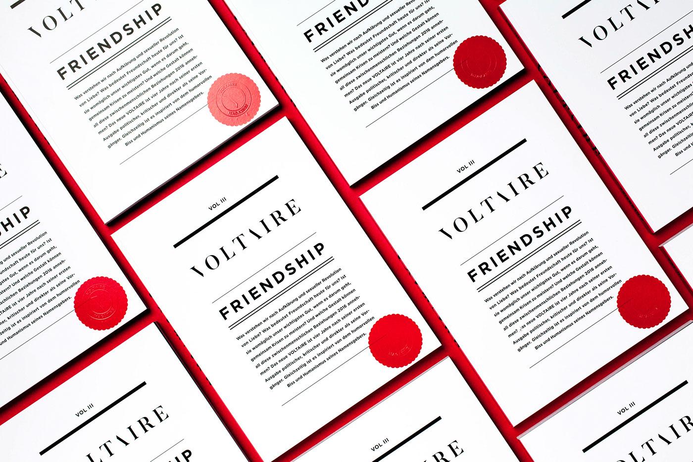 magazine editorial friendship Voltaire typography   Photography  studentwork Hochschulmagazin print Collaboration