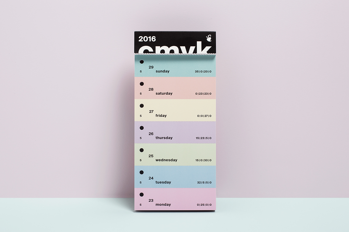 CMYK,color,swatch,calendar,calendar 2016,hermann schmidt,design,print,inspiration,creative,art,Creativity,colorful,colors