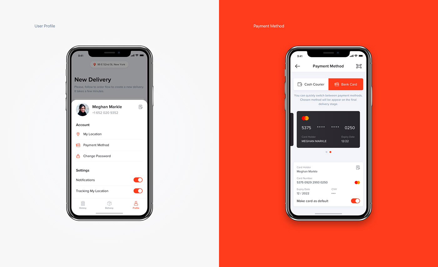 delivery design interface ios interaction Order app mobile map ux UI
