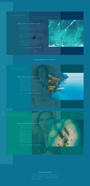 Dior perfume Luxuary Travel Tropical UI ux animation  summer sea