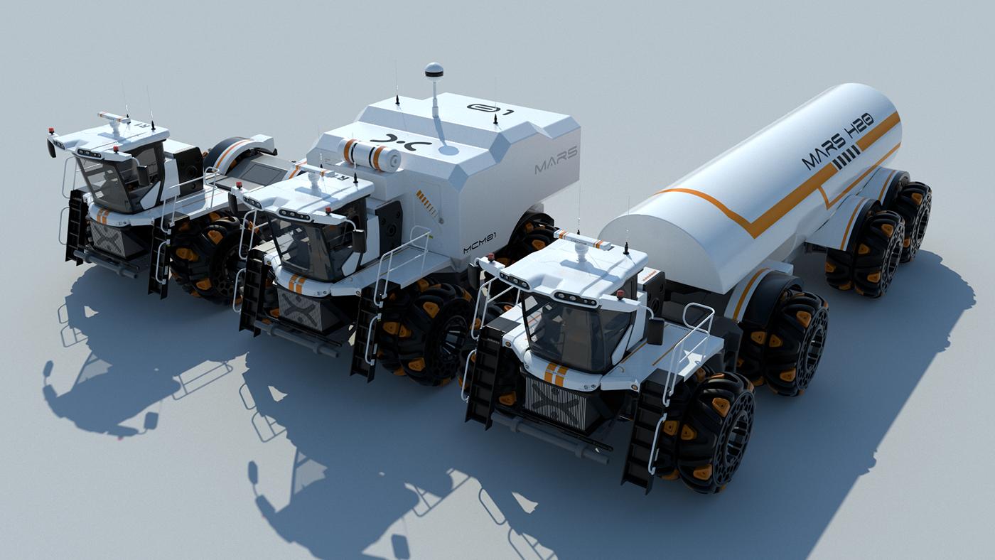 mars Vehicle concept 3D c4d Tractor
