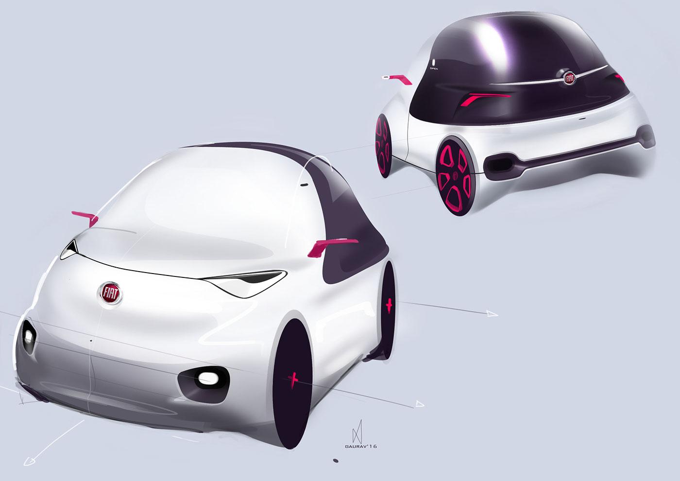 精品的20套概念車草圖設計欣賞