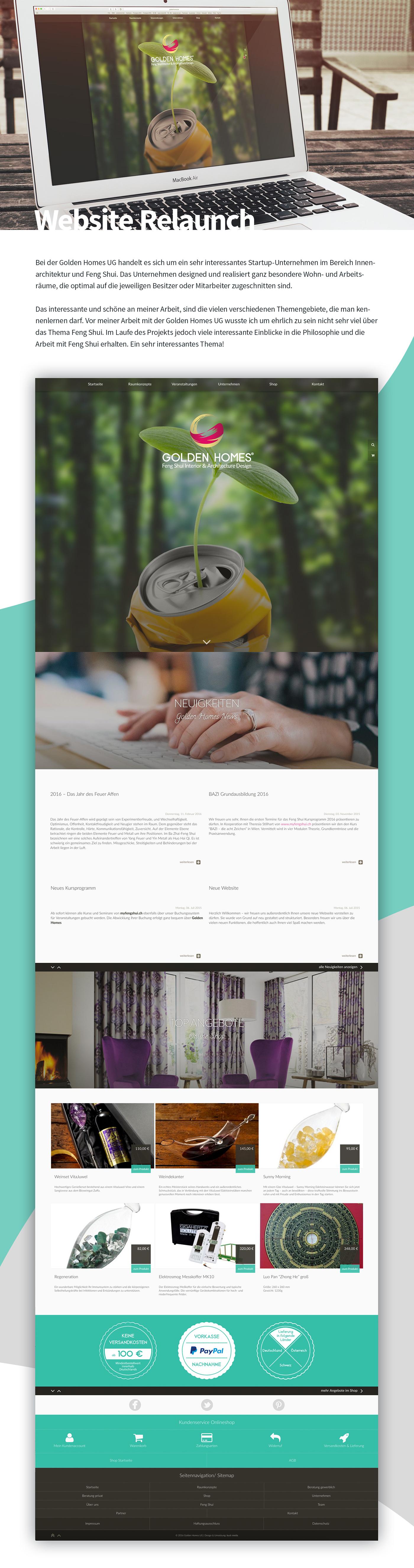 relaunch,redesign,Screendesign,development,wordpress,Online shop,buck media