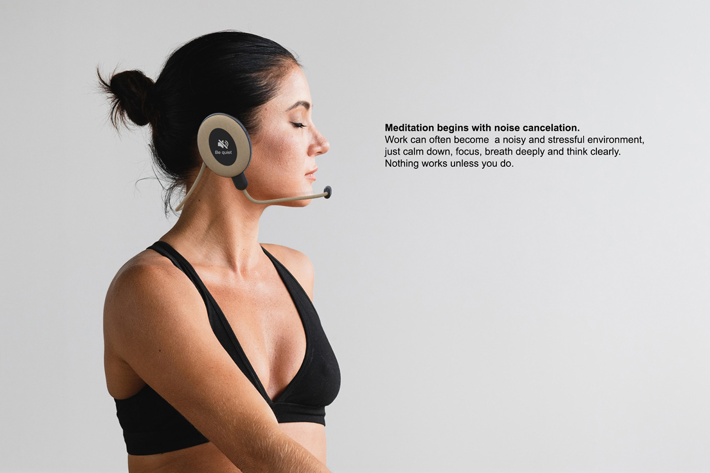 darko nikolic Glasom headphones headset Innovative minimalist Smart headset tech Wearable