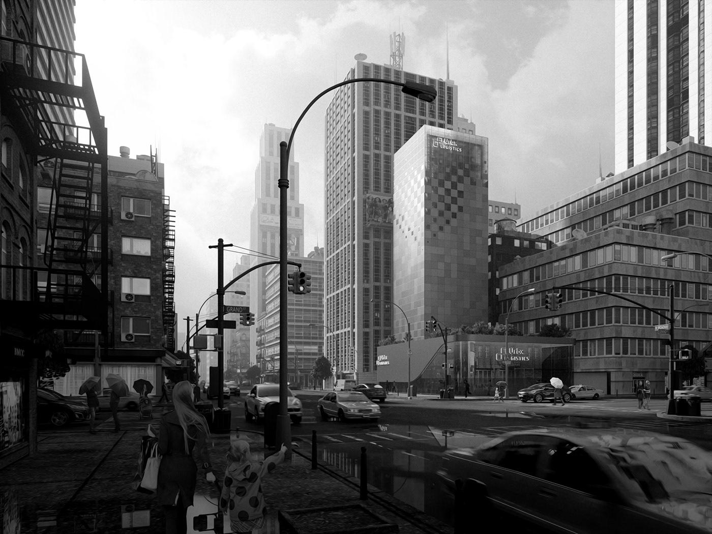 concept design 3D CGI Render Logistics architecture product design