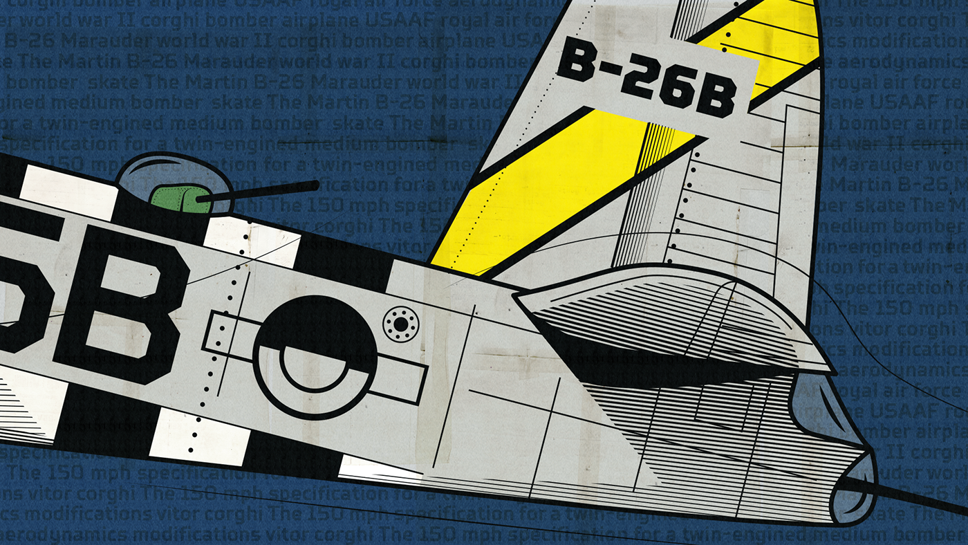 Airfighters Series On Behance B 26 Marauder Engine Diagram The Martin Is An American Twin Bomber Of Second World War Used For First Time In Theater Operation Early 1942