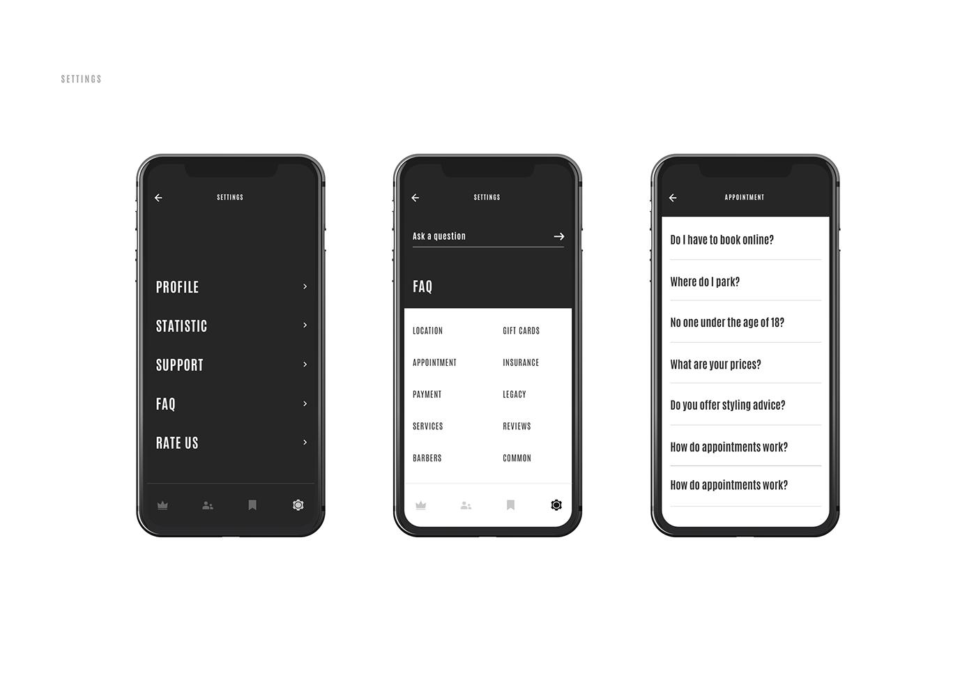 mobile interaction Web motion black digital animation  Style inspiration
