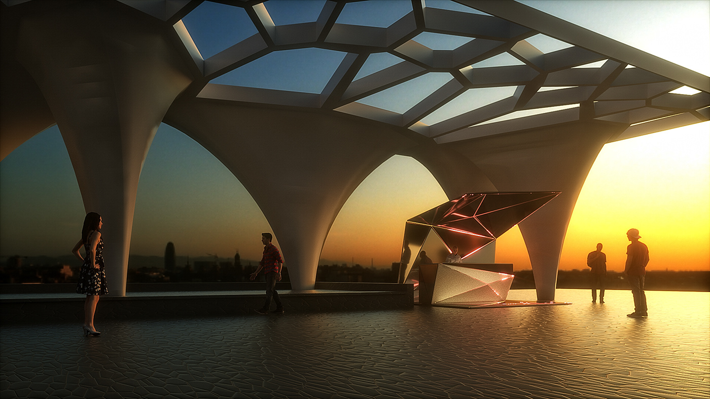 interactive 3d design interior design  Red Bull Event Design Mobile Bar