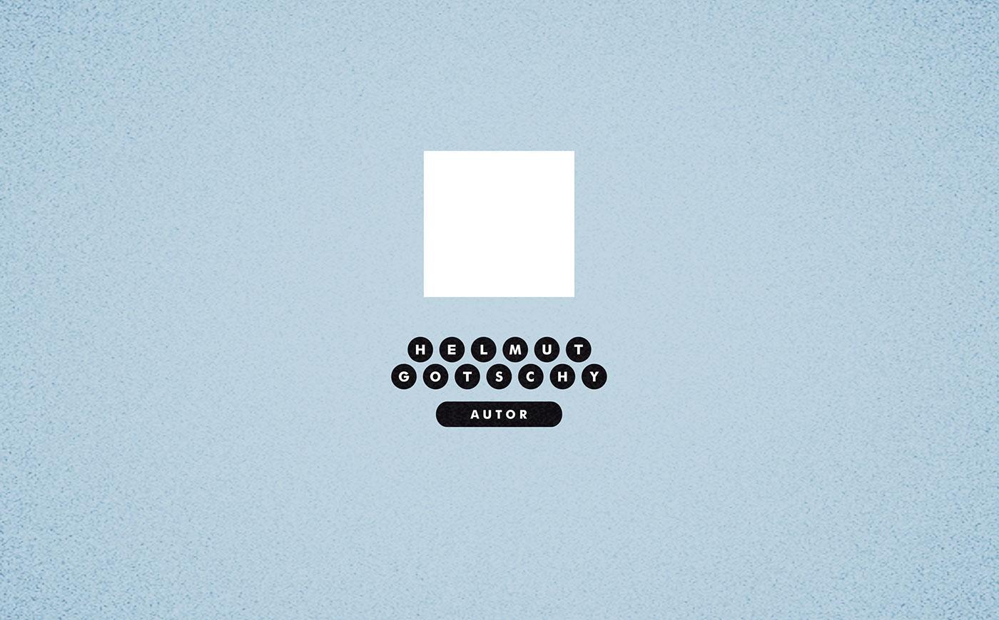 identity brand Author typewriter logo