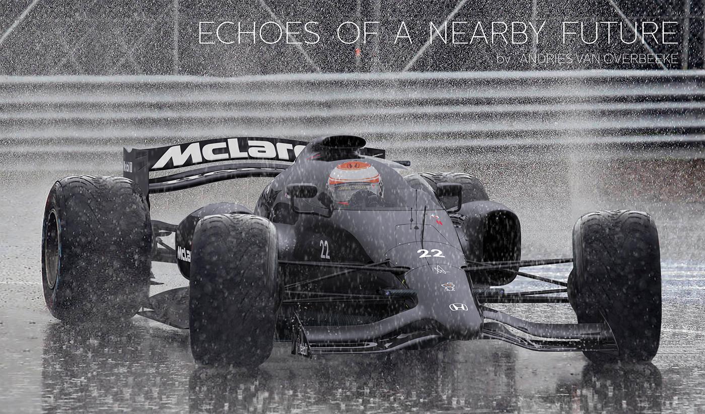 Adobe Portfolio McLaren Formula 1 Honda Jenson Button Fernando alonso concept art cockpit canopy Racing race racecar