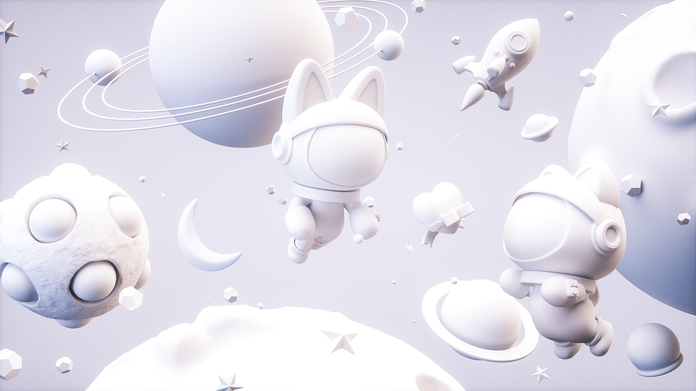 3D artwork Character cute ILLUSTRATION