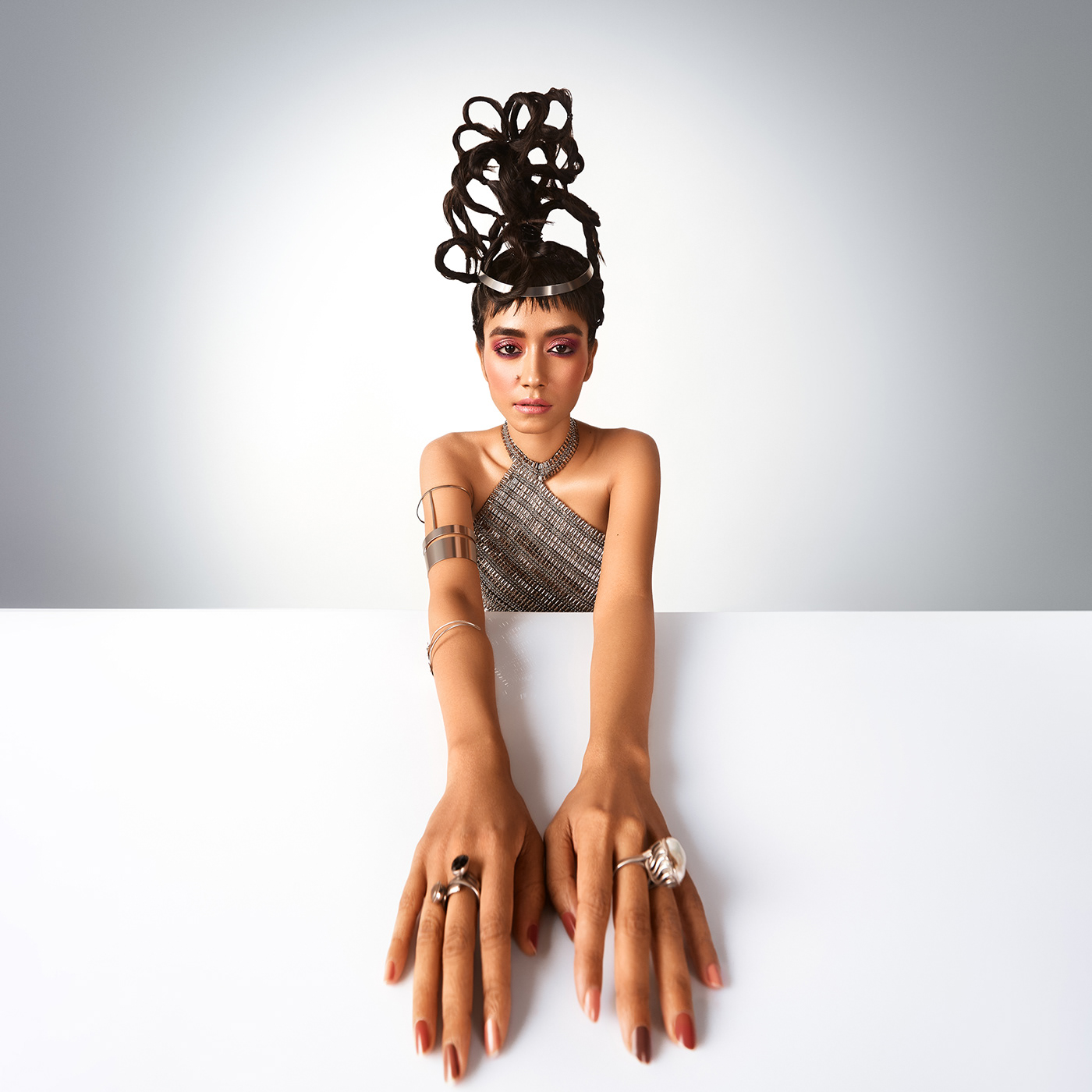 beauty editorial Fashion  India magazine MUMBAI Photography  portrait studio styling