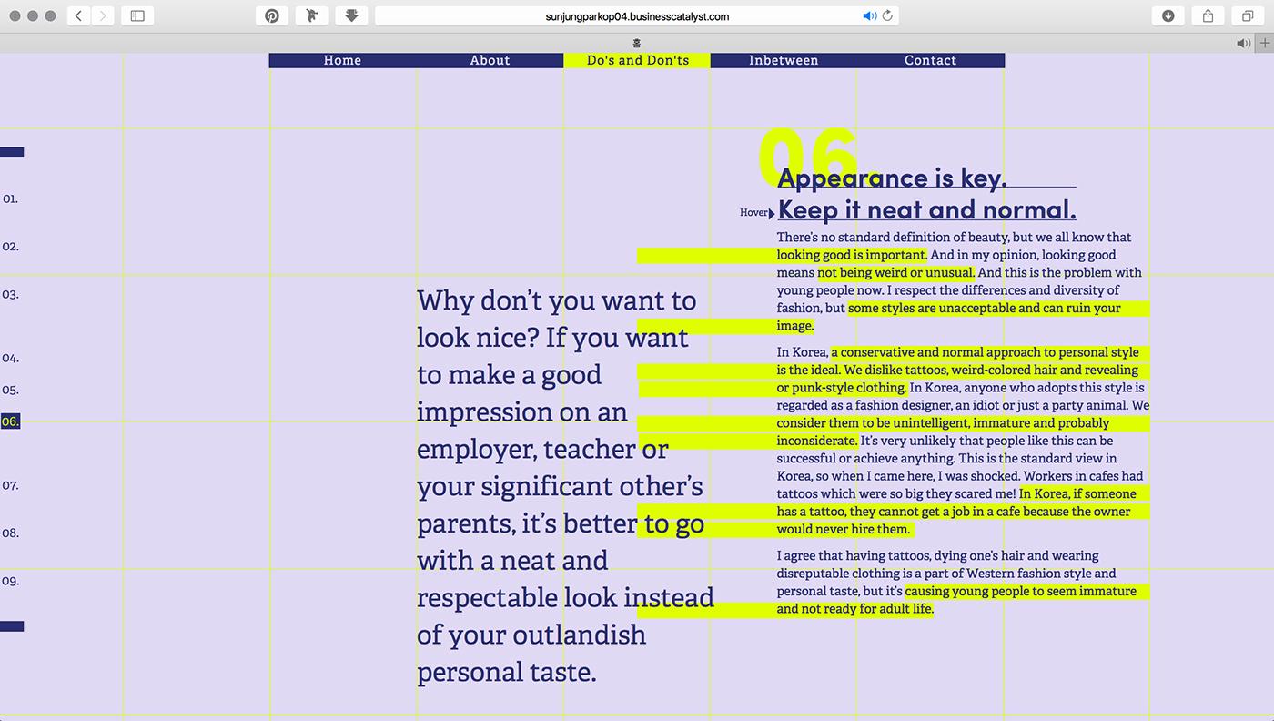 opinion web site Web Editorial design graphic design  typography   adobe muse Web Design  Interaction design  Web