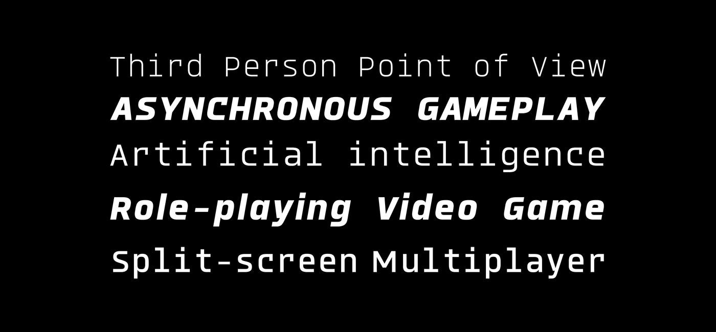 monospaced Typeface Interface Retro Glitch icons Display dingbats