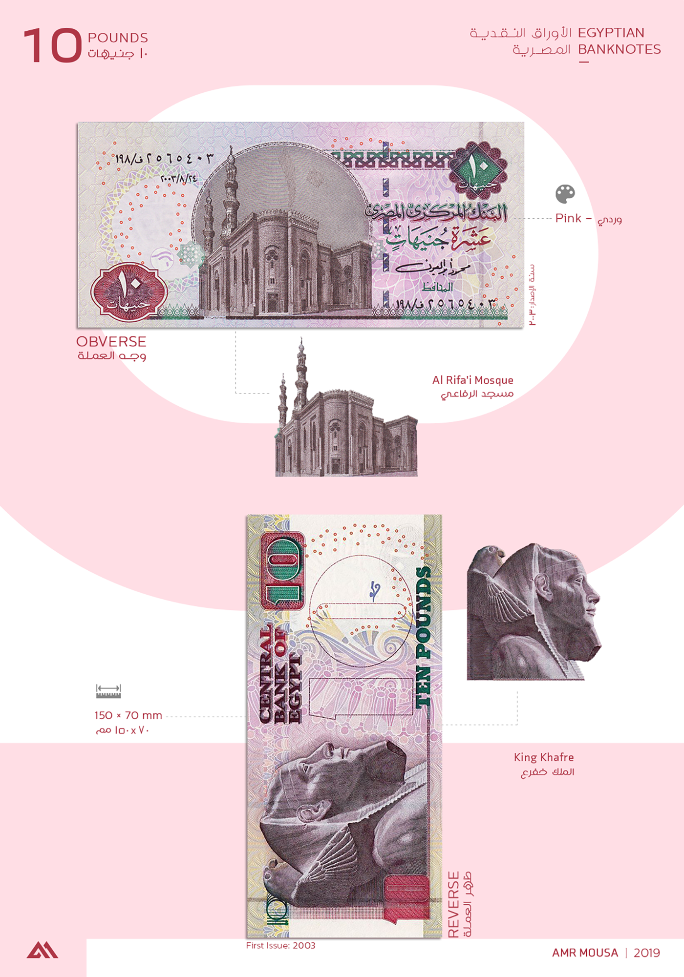 egypt banknotes currency pound architecture Interior Photography  pyramids infographics mousa