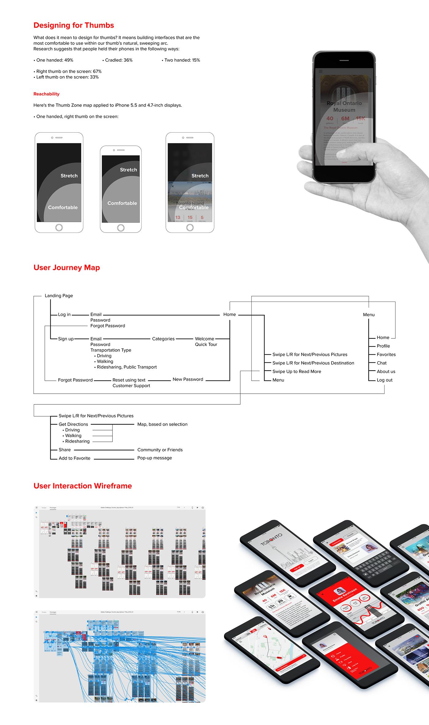 Toronto Creative City Guide - Iphone App on Behance