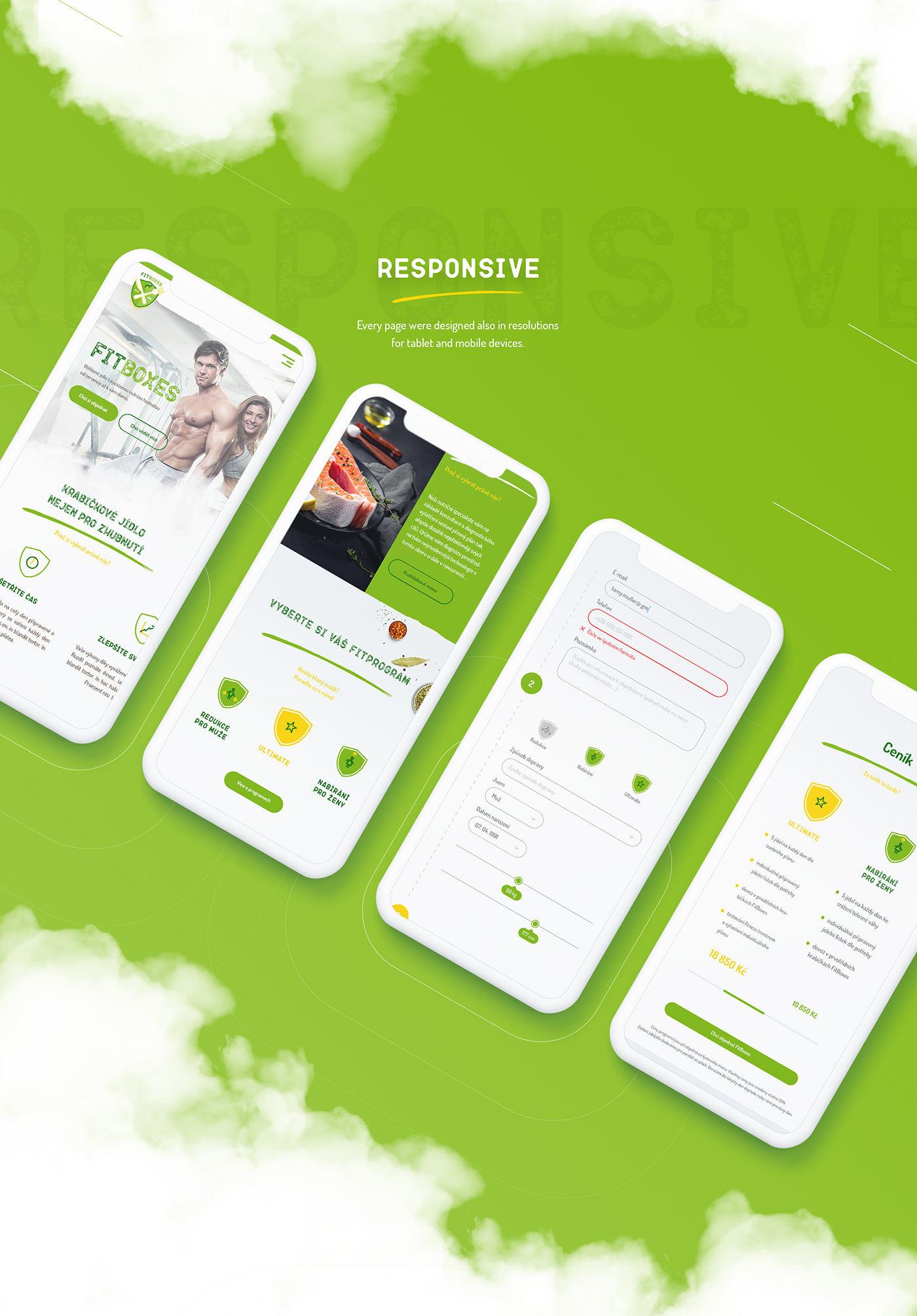 design Web fitness Food  lime Webdesign healthy ux clean green