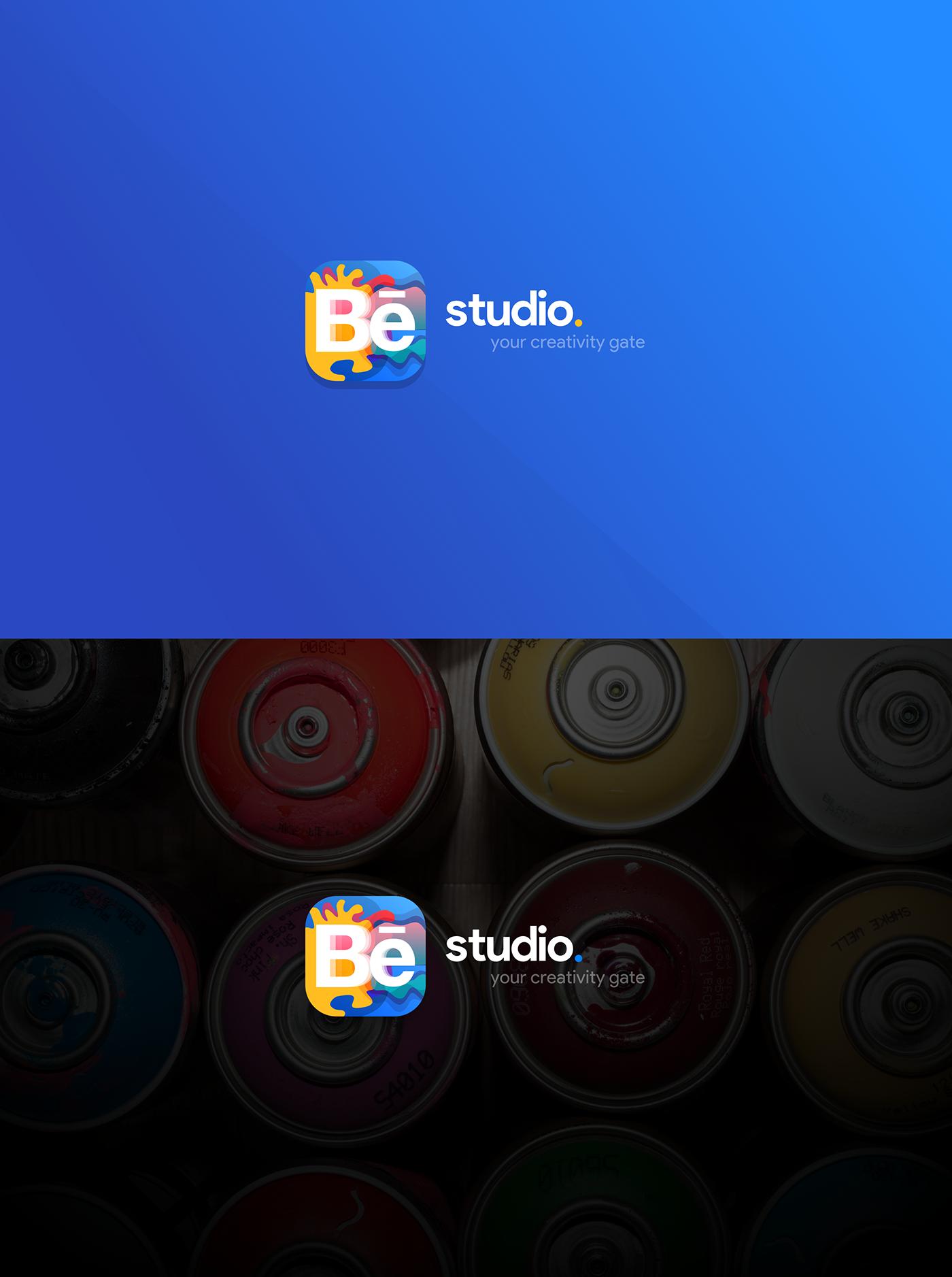 Behance Studio App Concept Brand Identity & UI/UX