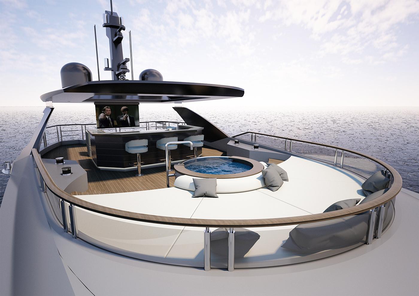Greywolf 40m Explorer Yacht Design Project on Behance